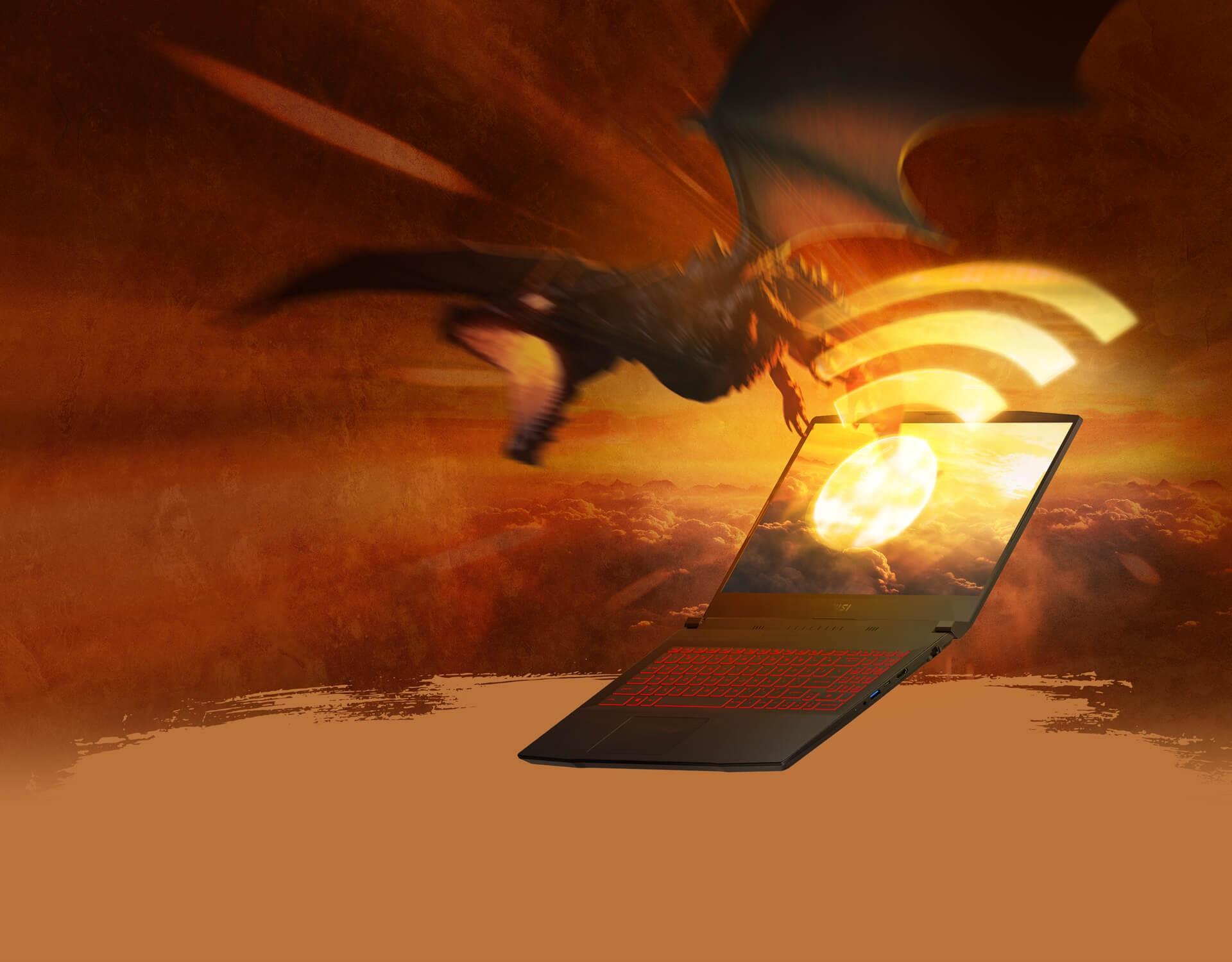 MSI GF66 11UC-084CA Katana w/ Core™ i5-11400H, 8GB, 512GB NVMe SSD, 15.6in FHD 144Hz, GeForce RTX 3050, Wi-Fi 6, Win 10 Home - Laptops / Notebooks - Memory Express Inc.
