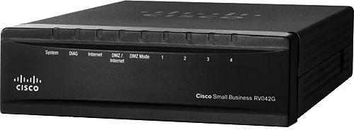 Cisco RV042G Dual Wan Gigabit VPN 4-Port Router, Black