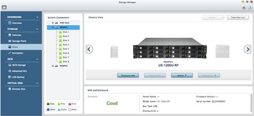 Qnap Ux 1200u Rp 12 Bay Usb 3 0 Nas Expansion Unit