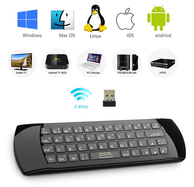riitek rii mini i25 fly mouse keyboard w ir remote control black wireless keyboards memory. Black Bedroom Furniture Sets. Home Design Ideas