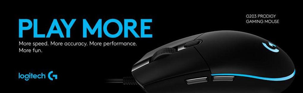 Logitech G203 Prodigy RGB Gaming Mouse w/ LIGHTSYNC, Black