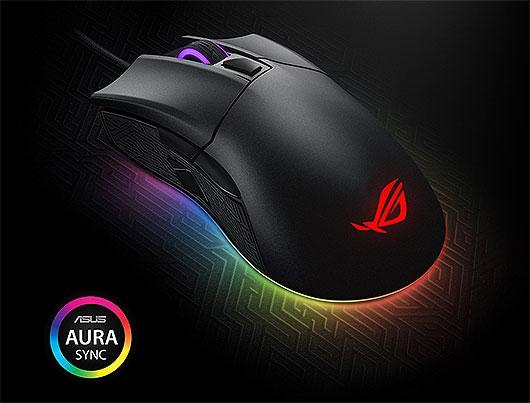 Asus ROG Gladius II Aura Sync Gaming Mouse, Black - Gaming