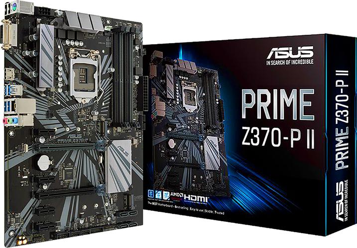 Asus PRIME Z370-P II Motherboard w/ DDR4 2666, 7 1 Audio
