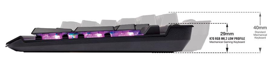 Corsair K70 RGB MK 2 Low Profile RAPIDFIRE Mechanical Gaming
