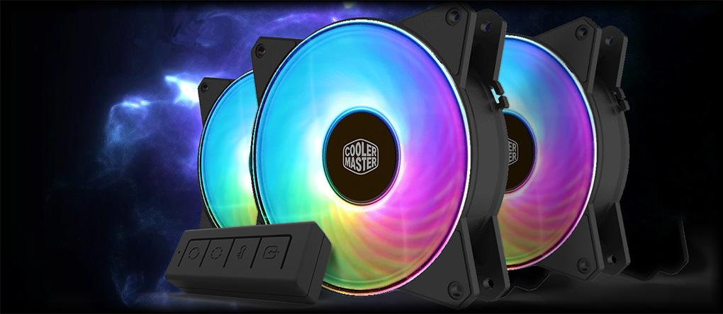 Cooler Master MasterFan MF120R A-RGB 3-IN-1 120mm Fan Kit w/ A-RGB