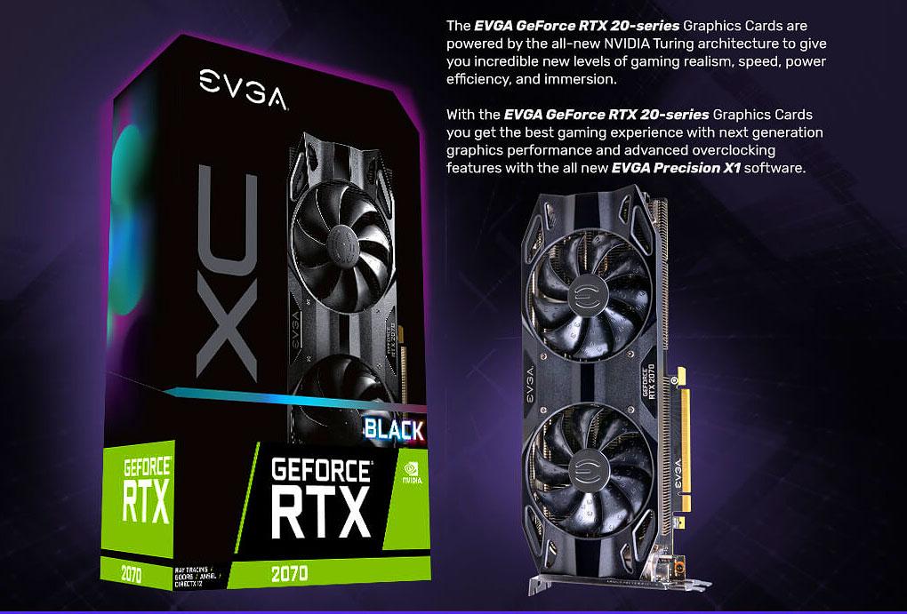 EVGA GeForce RTX 2070 XC BLACK EDITION GAMING 8GB PCI-E w