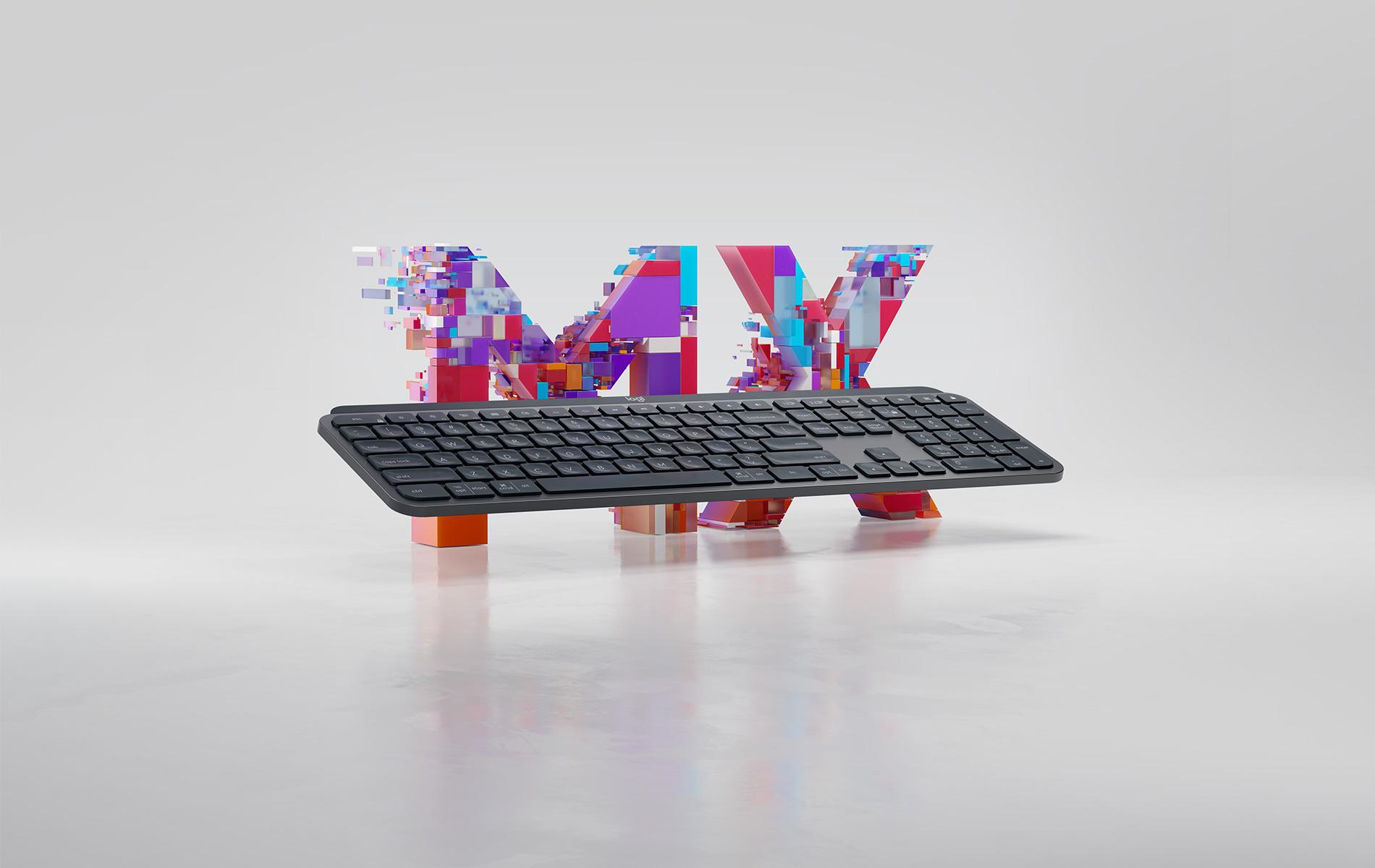 logitech master series mx keys wireless illuminated keyboard black wireless keyboards. Black Bedroom Furniture Sets. Home Design Ideas