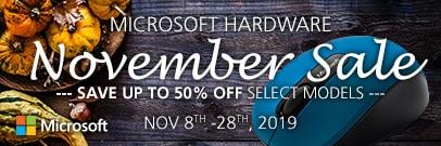Microsoft Hardware Sale - Save up to 35% off! (Nov 8-28)