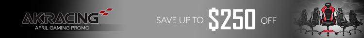 AKRacing April Promo - Save up to $150 ( April 1 - 30 , 2021 )
