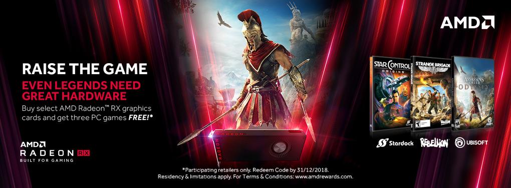 AMD Radeon - Go Big: Raise the Game (Aug 7 - Sept 30, 2018)