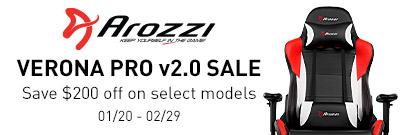 Save $200 off the Arozzi Verona Pro v2! (Jan 20 - Feb 29)