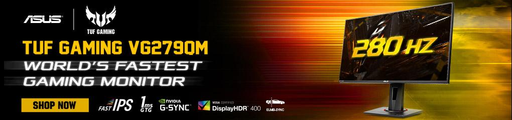 ASUS TUF GAMING VG279QM - The World's Fastest Gaming Monitor!