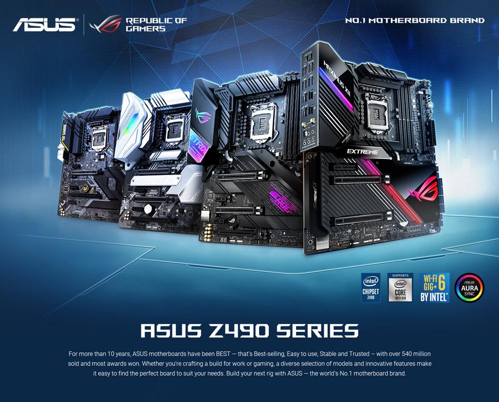 ASUS Z490 Series Motherboards - Unleash Maximum Performance