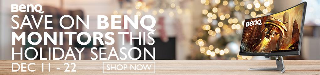 Save on BenQ Monitors this Holiday Season (Dec 11-22