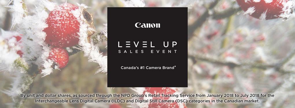 Canon Level Up Sales Event (Nov 9 - Jan 3, 2019)