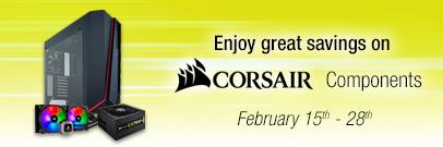 Enjoy great savings on Corsair Components! (Feb 15 - 28)