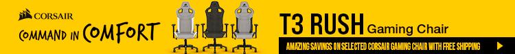 Corsair Gaming Chair Promo - Amazing savings on selected Corsair Gaming Chair with Free Shipping (Feb 12- 25, 2021 )