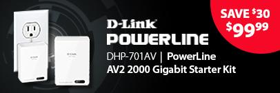 Save $30 on PowerLine AV2 2000 Gigabit Network Extender Kit (Feb 15 - 21)