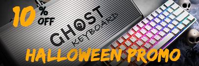 Ghost Keyboard Halloween Promo Get 10 % off (Oct 9 - Nov 1 )
