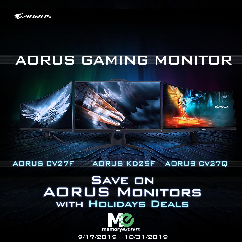 Save on Gigabyte AORUS Gaming Monitors (Sep 17-30)
