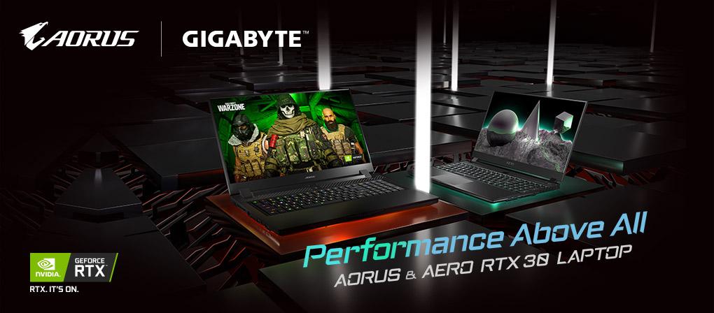 Performance Above All - Gigabyte AORUS & AERO GeForce RTX 30 Laptops