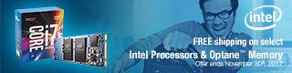 FREE shipping on select Intel Processors & Optane Memory (Nov 1 - 30)
