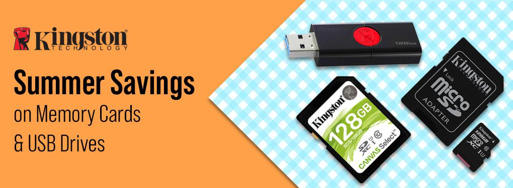 Summer Savings on Memory Cards & USB Drives (July 16 - 31)