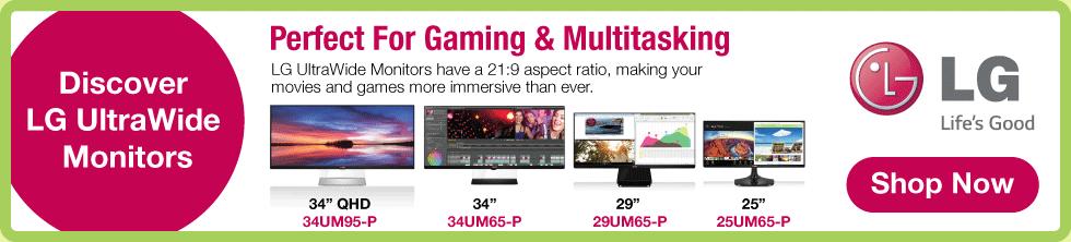 LG UltraWide Monitors