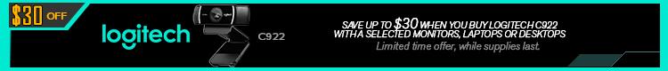 Logitech C922 Webcam 30Cad Off Promo  May 24 - June 29, 2021