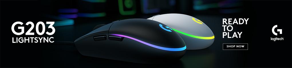 Logitech G203 Lightsync RGB Gaming Mouse - Ready to Play!