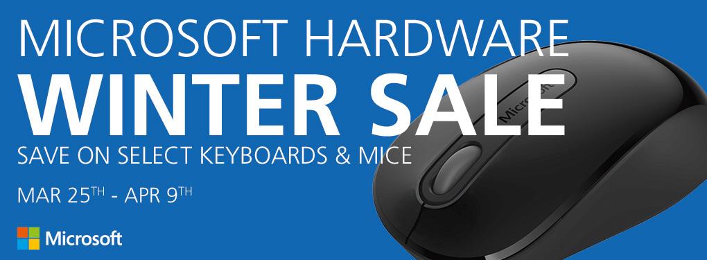 Microsoft Hardware Sale - Save on Microsoft Keyboards and Mice! (Mar 25 - Apr 9)