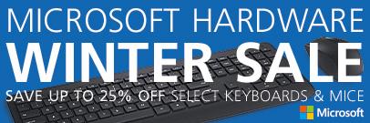 Microsoft Hardware Winter Sale - Save on Microsoft Keyboards and Mice! (Jan 15-30)