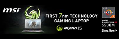 MSI Alpha 15 Ryzen 7 Gaming Laptop - the First 7nm Technology Gaming Laptop