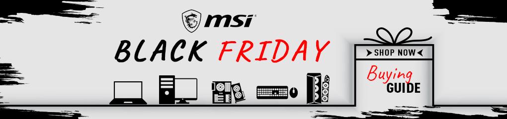 MSI Black Friday Sale (Nov 16 - 30, 2020)