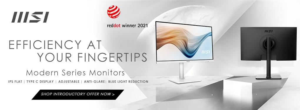 Efficiency at your fingertips - MSI Modern Series Monitors