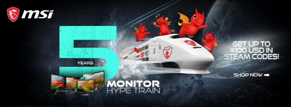 MSI 5 Years Monitor Hype Train - Free Steam Code (Oct 15 - Nov 15, 2021)