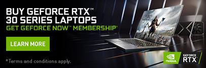 Buy a GeForce RTX 3080, 3070, or 3060 Laptop, Get GeForce Now Membership (Jan 26 - Jun 30, 2021)