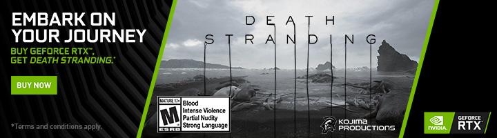 Embark on your journey - Buy GeForce RTX, Get Death Stranding (Jul 9-29)