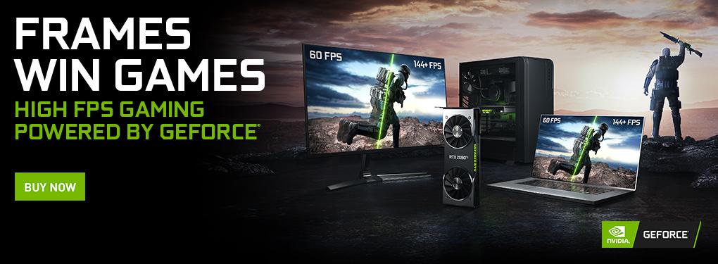 GeForce RTX: Frames Win Games