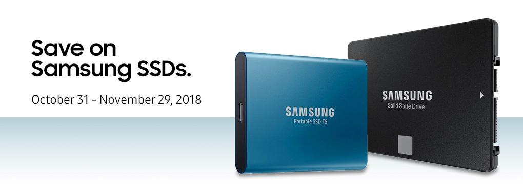 Save on Samsung SSDs (Oct 31 - Nov 29, 2018)