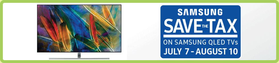 Save the Tax on select Samsung QLED TVs (Jul 7 - Aug 10)