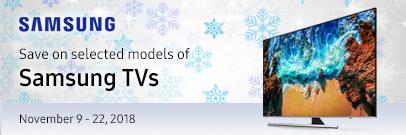 Save on selected models of Samsung TVs (Nov 9 - 22, 2018)