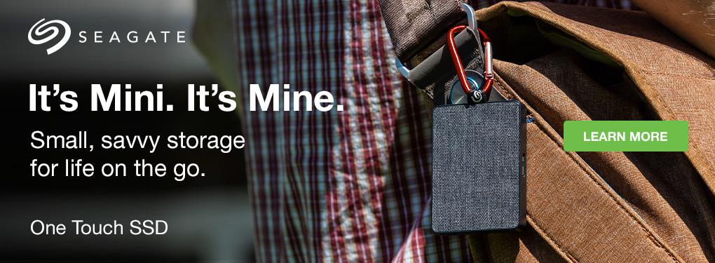 Seagate One Touch SSD - It's Mini. It's Mine.