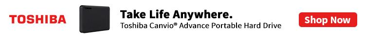 Toshiba Canvio External Drives ( Oct 1 -31 , 2021)
