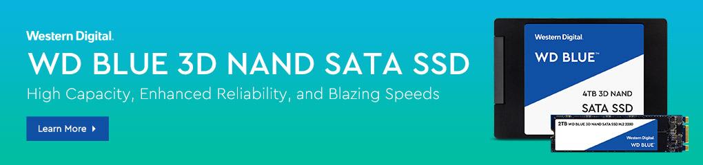 WD BLUE 3D NAND SATA SSD - High Capacity, Enhanced Reliability, and Blazing Speeds