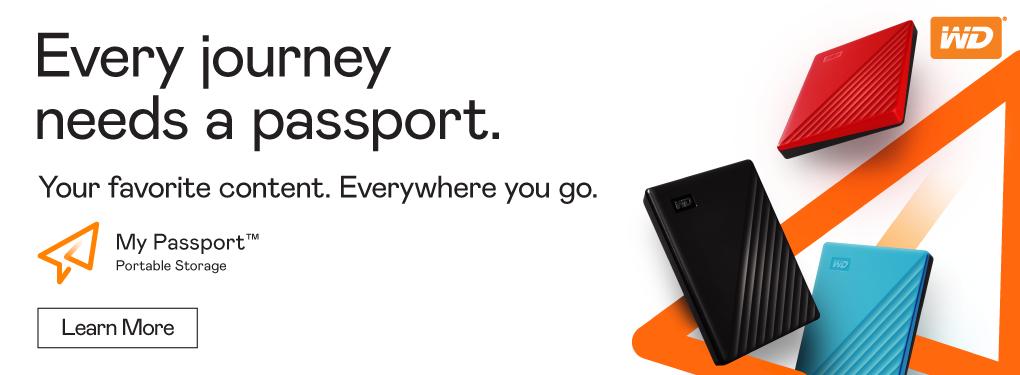 Every journey needs a passport.  Western Digital My Passport Portable Storage