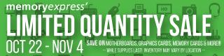 Memory Express Limited Quantity Sale (Oct 22 - Nov 4)