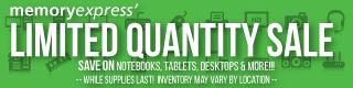 Memory Express Limited Quantity Sale (Feb 17 - Mar 4)