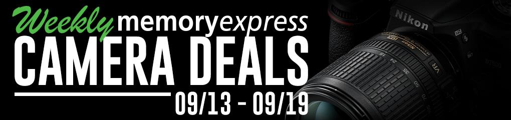 Memory Express Weekly Camera Deals (Sep 13-19)