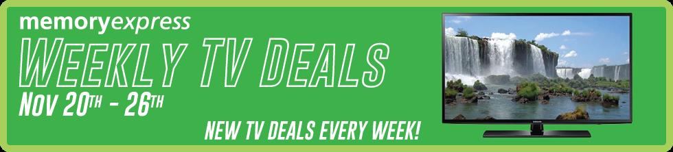 Memory Express Weekly TV Deals (Nov 6-12)